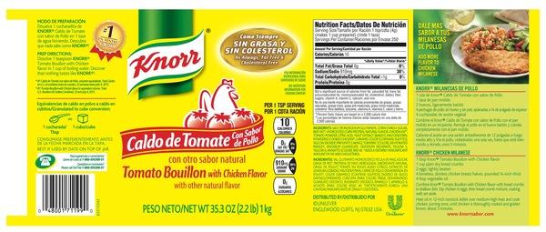 Tomato Bouillon With Chicken Flavor